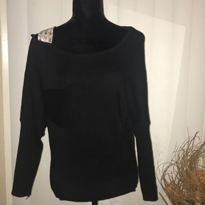 Sweaters - Cold shoulder jeweled sweater.